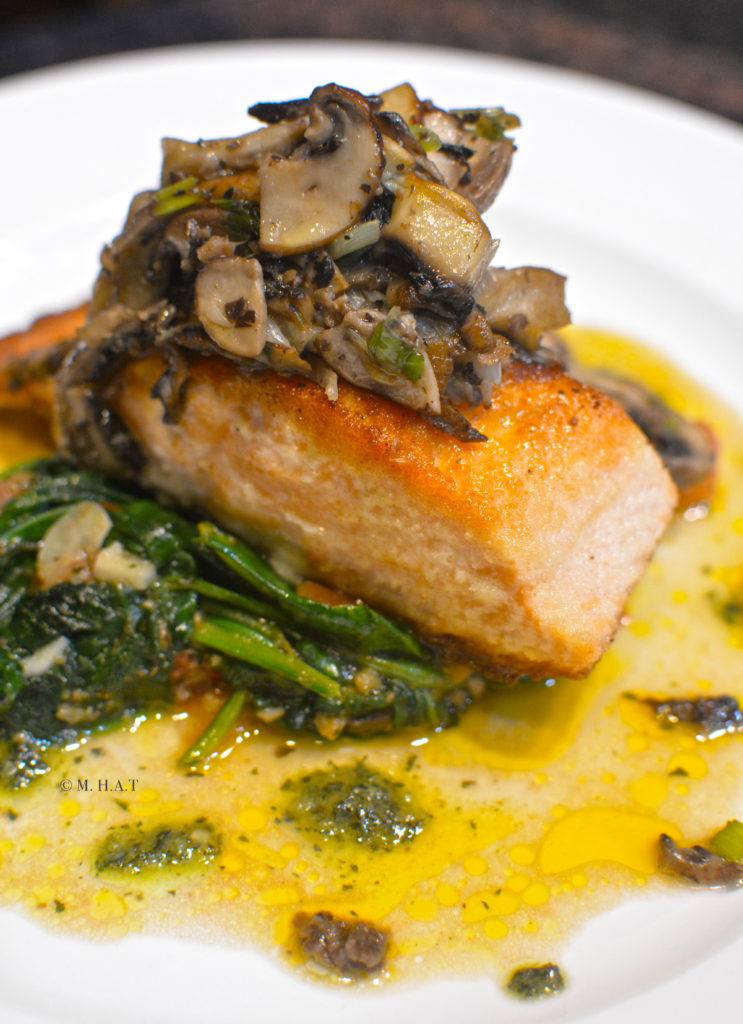 Salmon Truffle Spinach